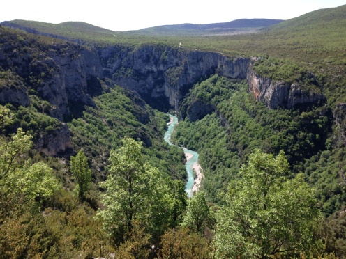 Looking back at the river after climbing out of the gorge...