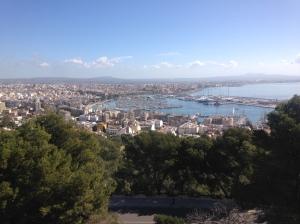 view of Palma de Mallorca from Castell Bellver